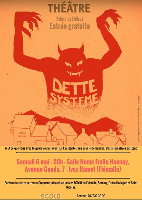 Théâtre – Pièce et débat – Samedi 6 Mai 2017